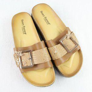 Henry Ferrera Slide Sandals Women's SIze 7 Brown